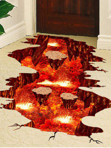 Fancy Volcano Vinyl Floor 3D Wall Sticker - 60*90CM RED Mobile