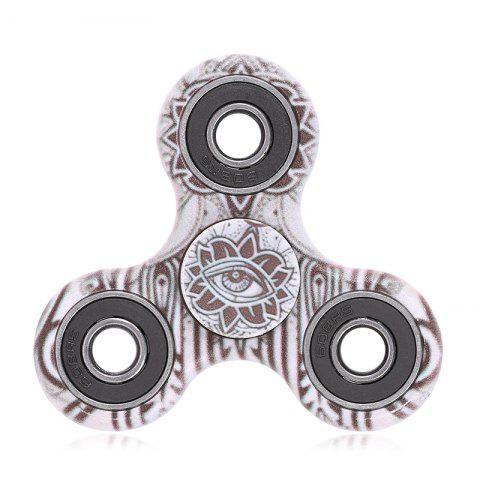 Fashion Fiddle Toy Plastic Tri-bar Mandala Patterned Fidget Spinner