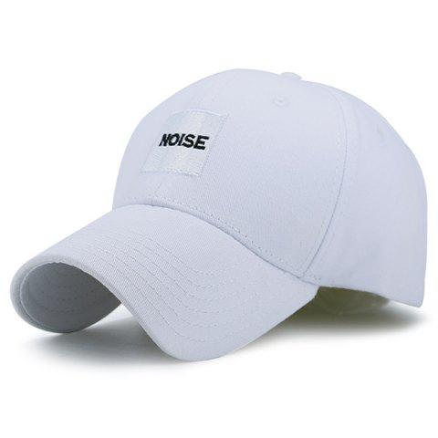 Outfits Letters Gesture Embellished Baseball Hat WHITE