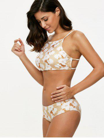 Store Cami Printed Crossover Bikini Set - L COLORMIX Mobile