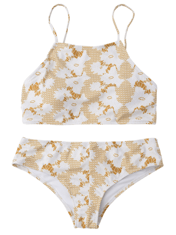 Outfit Cami Printed Crossover Bikini Set - M COLORMIX Mobile