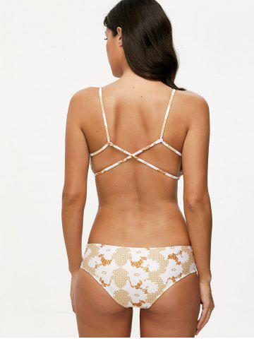 Outfits Cami Printed Crossover Bikini Set - S COLORMIX Mobile