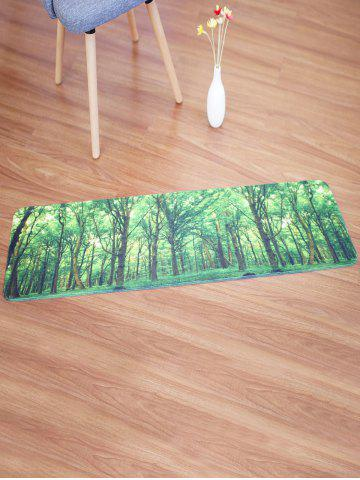 store coral fleece area rug with forest pattern w16 inch l47 inch green mobile
