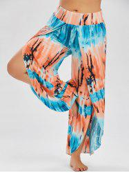 Ombre High Slit Plus Size Bohemian Pants - OASIS