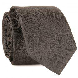Anthemia Paisley Pattern Jacquard Tie - Complet Noir