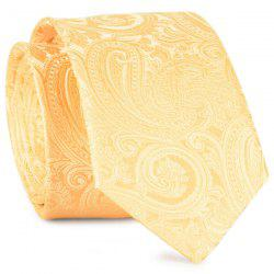Anthemia Paisley Pattern Jacquard Tie - YELLOW