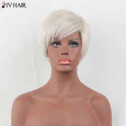 Siv Hair Short Side Bang Straight Pixie Human Hair Wig