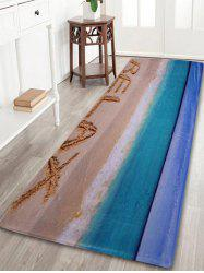Beach Theme Coral Fleece Floor Bathroom Rug - COLORMIX
