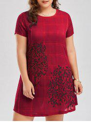 Plus Size Printed Semi Sheer Chiffon Tee Dress