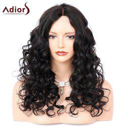 Adiors Middle Part Long Shaggy Curly Synthetic Wig