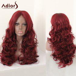 Adiors Middle Parting Shaggy Layered Long Curly Synthetic Wig