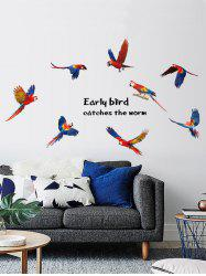 Vinyl Parrots Inspirational Quote Wall Sticker