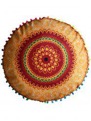 Mandala Round Decorative Pouf Pillow Case