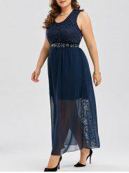 Plus Size Chiffon Long Evening Formal Maxi Dress
