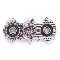Anti-stress Toy Plastic Mandala Patterned Bat Fidget Spinner - BROWN