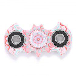 Anti-stress Toy Plastic Mandala Patterned Bat Fidget Spinner - PINK