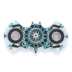 Anti-stress Toy Plastic Mandala Patterned Bat Fidget Spinner - TURQUOISE