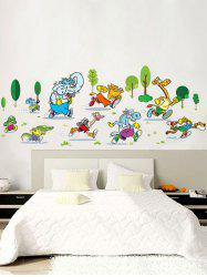 Animal Marathon Cartoon Wall Sticker For Nursery