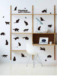 Cat Animal Removable Home Decor Wall Sticker -