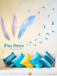Feather Vinyl Decorative Bedroom Wall Sticker
