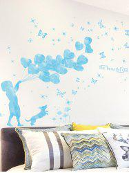 Heart Balloon Girl Bedroom Wall Art Sticker