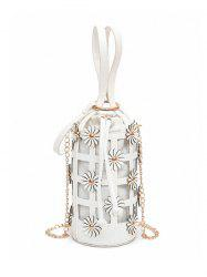 Flowers Cut Out Chain Bucket Bag