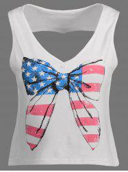 American Flag Cut Out Patriotic Tank Top