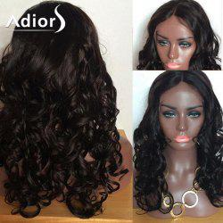 Adiors Long Body Wave Shaggy Center Part Lace Front Synthetic Wig