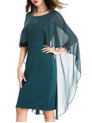 Bodycon Capelet Dress - Vert