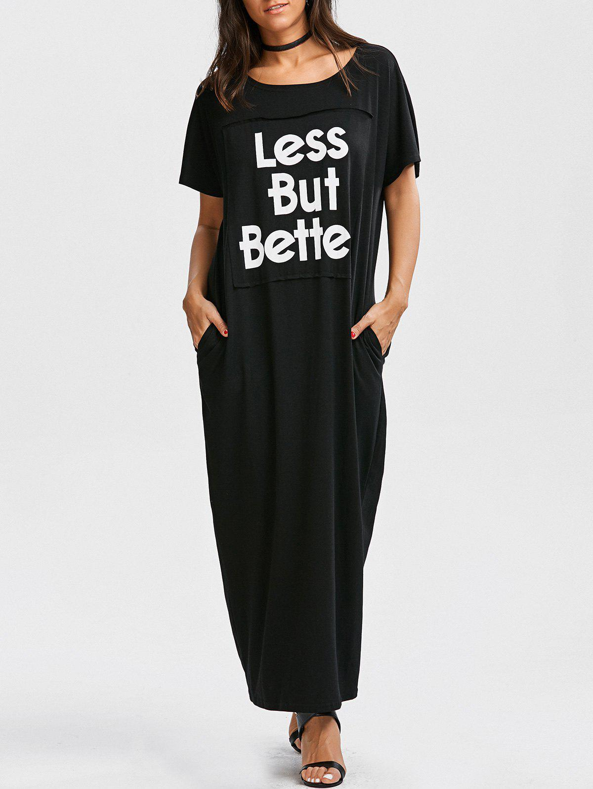Best Letter Graphic Oversized Maxi Dress