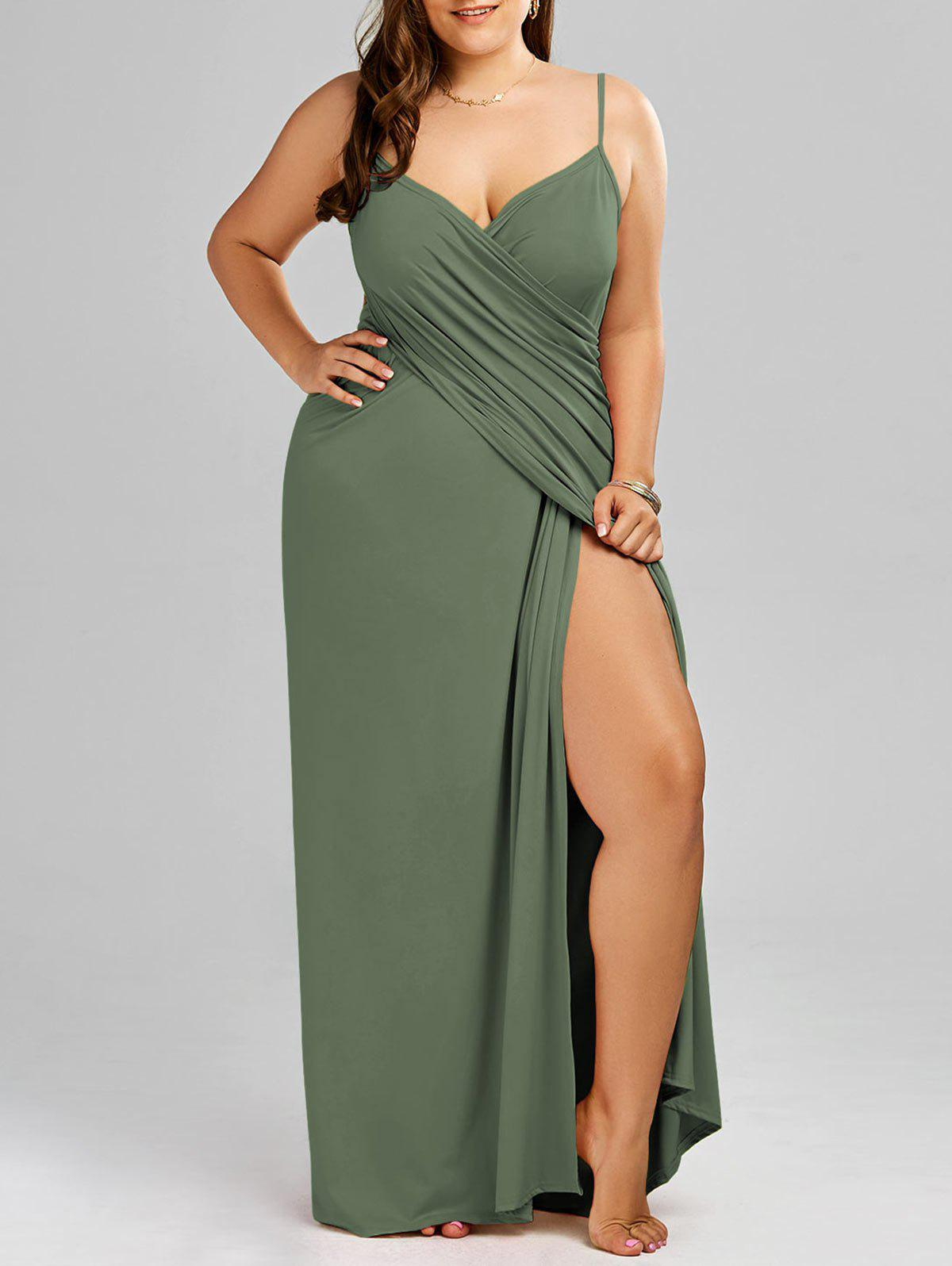 Hot Plus Size Flowy Cover Up Wrap Dress