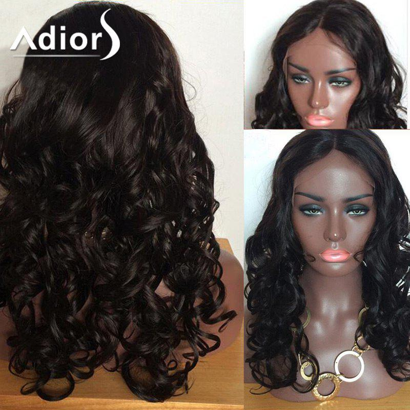 Unique Adiors Long Body Wave Shaggy Center Part Lace Front Synthetic Wig