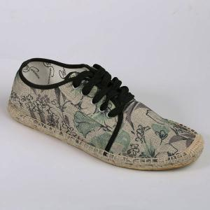 Flower Print Espadrilles Canvas Shoes -