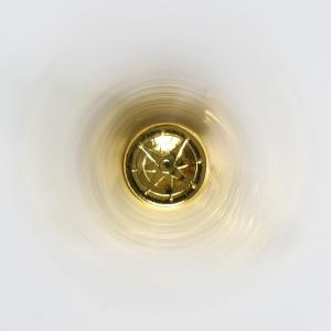 Stress Relief Toy Eagle Shape Fidget Metal Spinner - GOLDEN