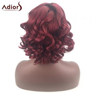 Adiors Color Mix Short Shaggy Side Part Curly Synthetic Wig - COLORMIX