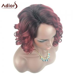 Adiors Color Mix Short Shaggy Side Part Curly Synthetic Wig -