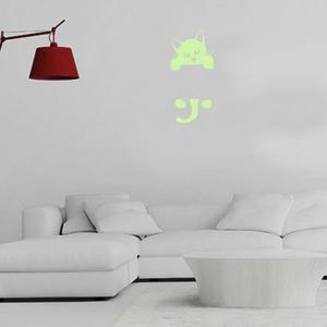 Home Decor Noctilucence Cat Wall Sticker - NEON GREEN 10*20CM