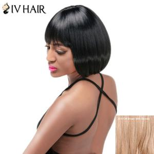 Siv Hair Short Bob Full Bang Straight Human Hair Wig