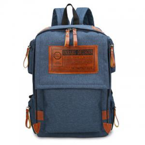 Multi Pockets Graphic Patch Backpack