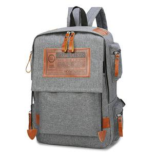Multi Pockets Graphic Patch Backpack -