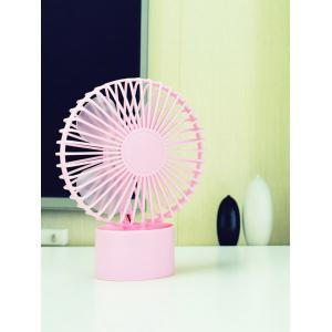 Mini ventilateur portable miniature rechargeable - ROSE PÂLE