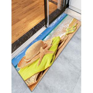 Beach Style Flannel Skidproof Bathroom Rug