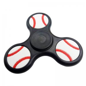 Anti Stress Ball Shape Triangle Finger Spinner - Black - 6*6*1.5cm