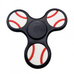Anti Stress Ball Shape Triangle Finger Spinner - BLACK