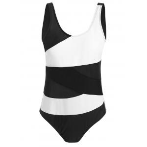 Plus Size Color Block Padded One Piece Swimsuit