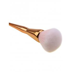Taper Plating Handle Multifunctional Portable Foundation Brush - Or Rose