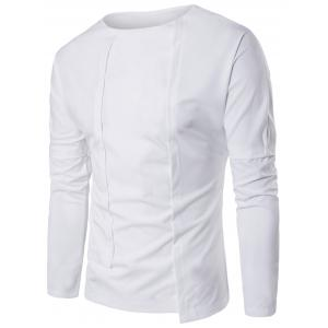 Long Sleeve Asymmetric Panel T-shirt