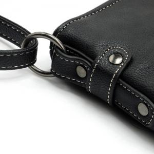 Faux Leather Stitching Crossbody Bag -
