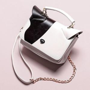 Color Block Cat Ear Crossbody Bag