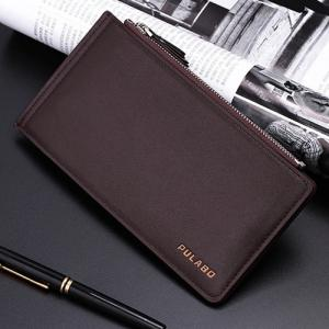 Bifold Faux Leather Organizer Wallet - Café